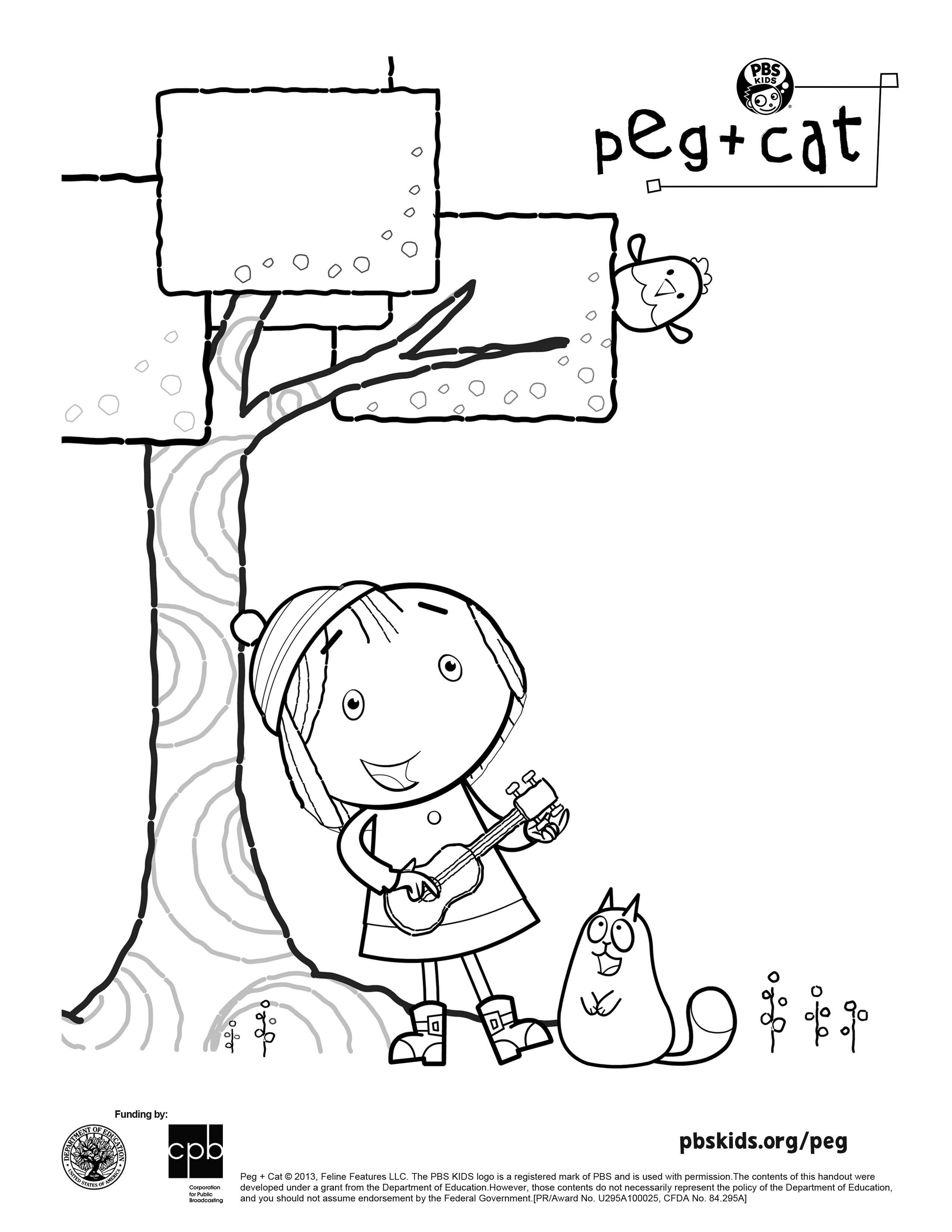 2550x3300 Cool Peg Cat Coloring Sheet Peg Cat Free Coloring
