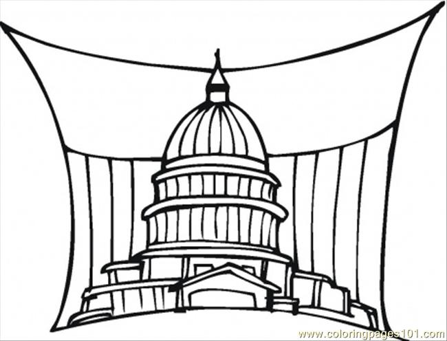 650x496 Government In Washington Coloring Page