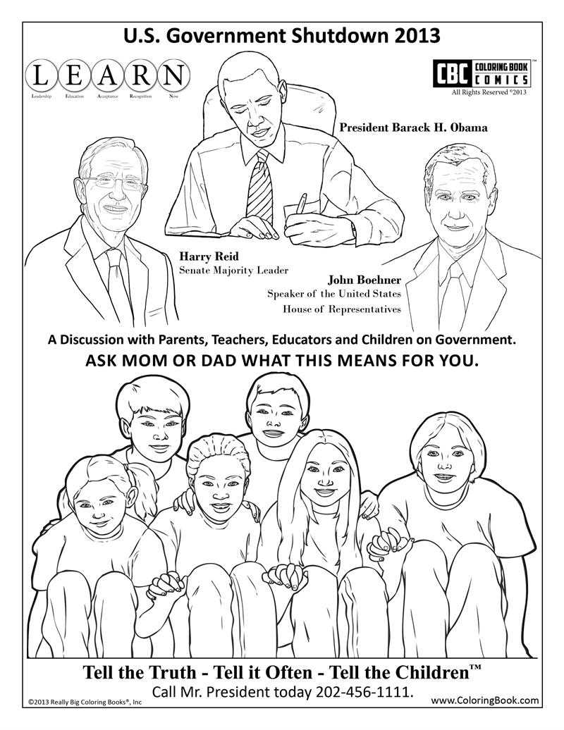 800x1036 Government Shutdown Coloring Book Page Free Online Coloring Page