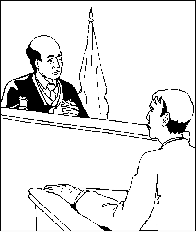 675x806 Judge Ampamp Witness Coloring Page