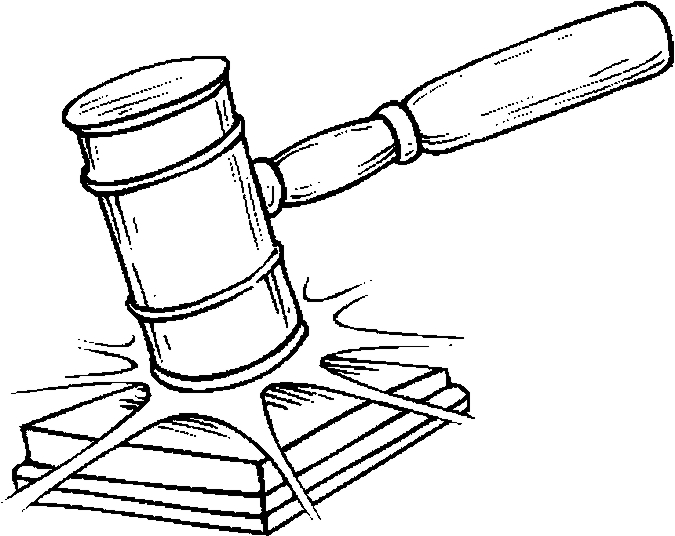 675x536 Judge And Gavel Coloring Page