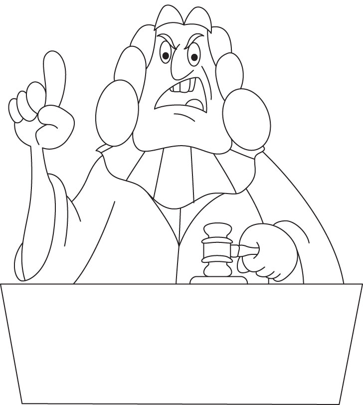 728x812 Judge Coloring Page Judge And Gavel Coloring Page Branches