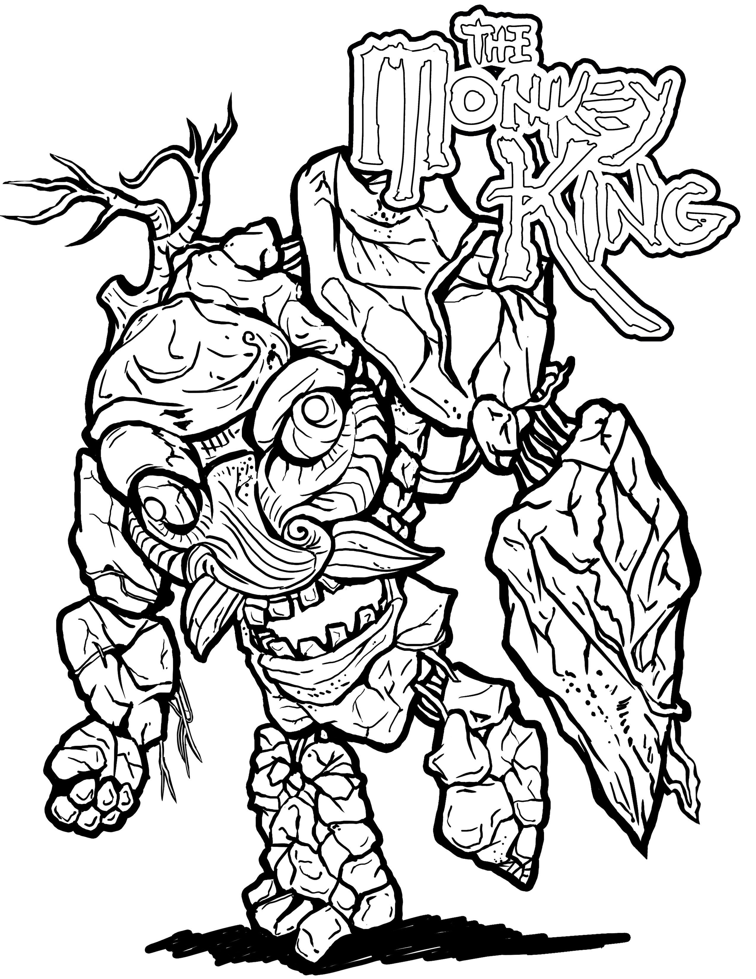 2550x3300 Coloring Pages Official World Of Monkey King Join