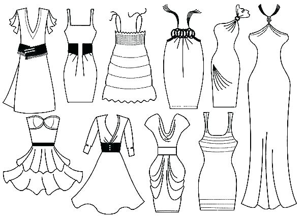 600x424 Dress Up Coloring Pages Dress Coloring Pages Clothes Coloring Page