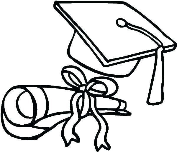 600x517 Graduation Cap Coloring Page Graduation Cap Coloring Page