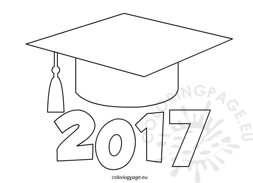 Graduation Cap Coloring Page