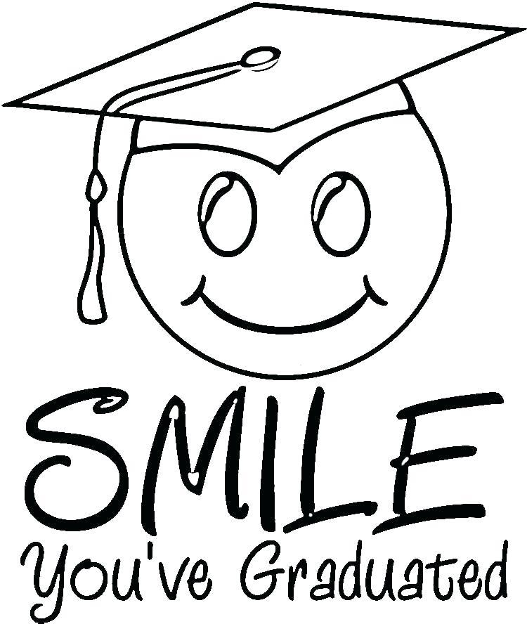 750x888 Graduation Coloring Pages Graduation Coloring Pages Graduation