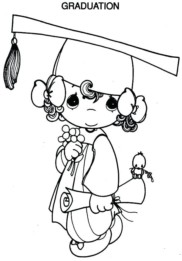 600x858 Graduation Coloring Pages Graduation Little Going To Graduation