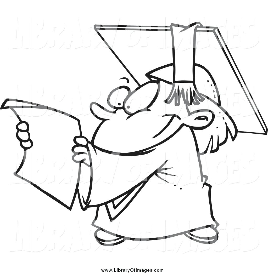 1024x1044 Last Chance Graduation Cap And Gown Coloring Pages Drawing
