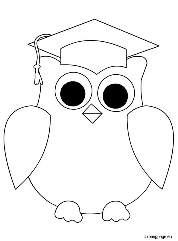 595x804 Owl Graduation Coloring Page