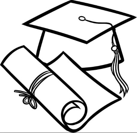 456x442 Graduation Cap Coloring Page Drawing Board Weekly