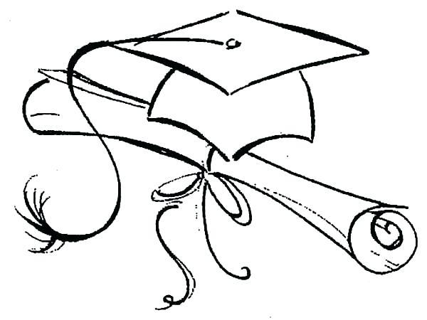 600x450 Graduation Cap Coloring Page Graduation Coloring Pages Best