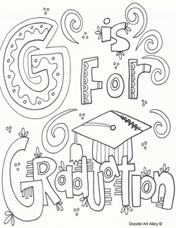 250x323 Graduation Coloring Page Free Download