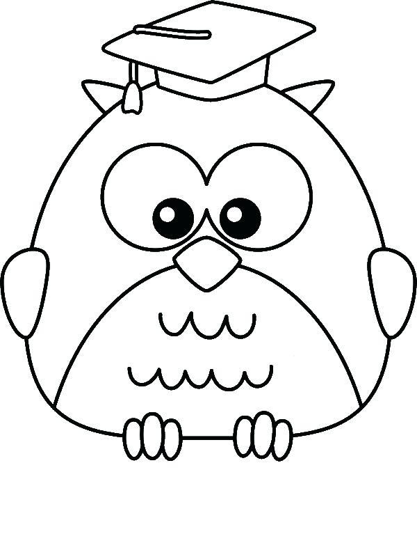 600x800 Graduation Coloring Pages Graduate Owl Coloring Page