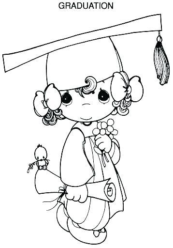 358x512 Graduation Coloring Pages Precious Graduation Coloring Pages