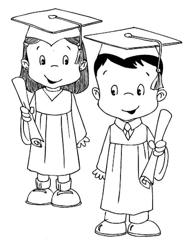 600x778 Graduation Coloring Sheets