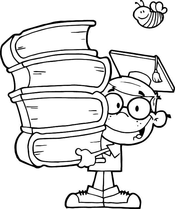 600x715 Graduation, Genius Kid Graduation Coloring Pages Maestra