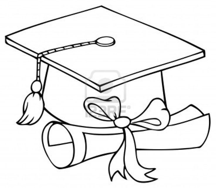 736x642 Graduation Cap And Diploma Coloring Pages