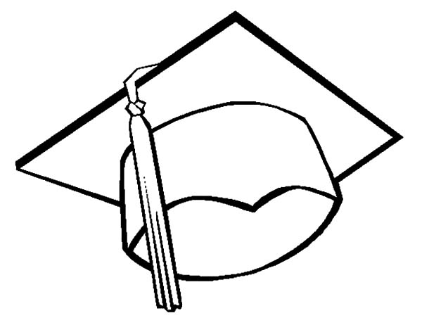 600x462 Graduation Coloring Pages To Print Graduation Cap Coloring Page