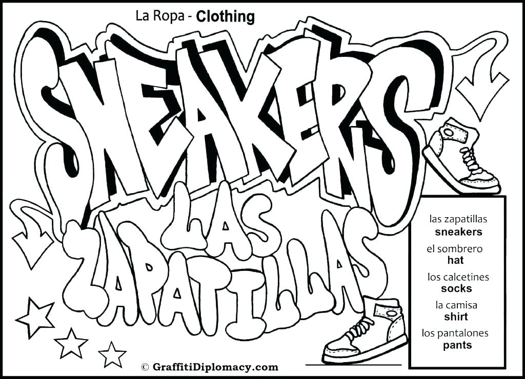 Graffiti Art Coloring Pages At Getdrawings Com Free For Personal
