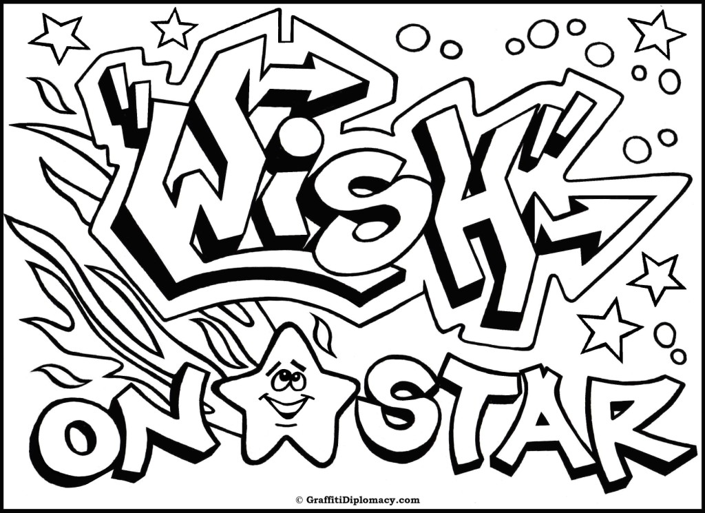 Graffiti Coloring Pages For Adults at GetDrawings.com | Free for ...