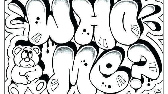 Graffiti Coloring Pages For Teenagers at GetDrawings.com ...