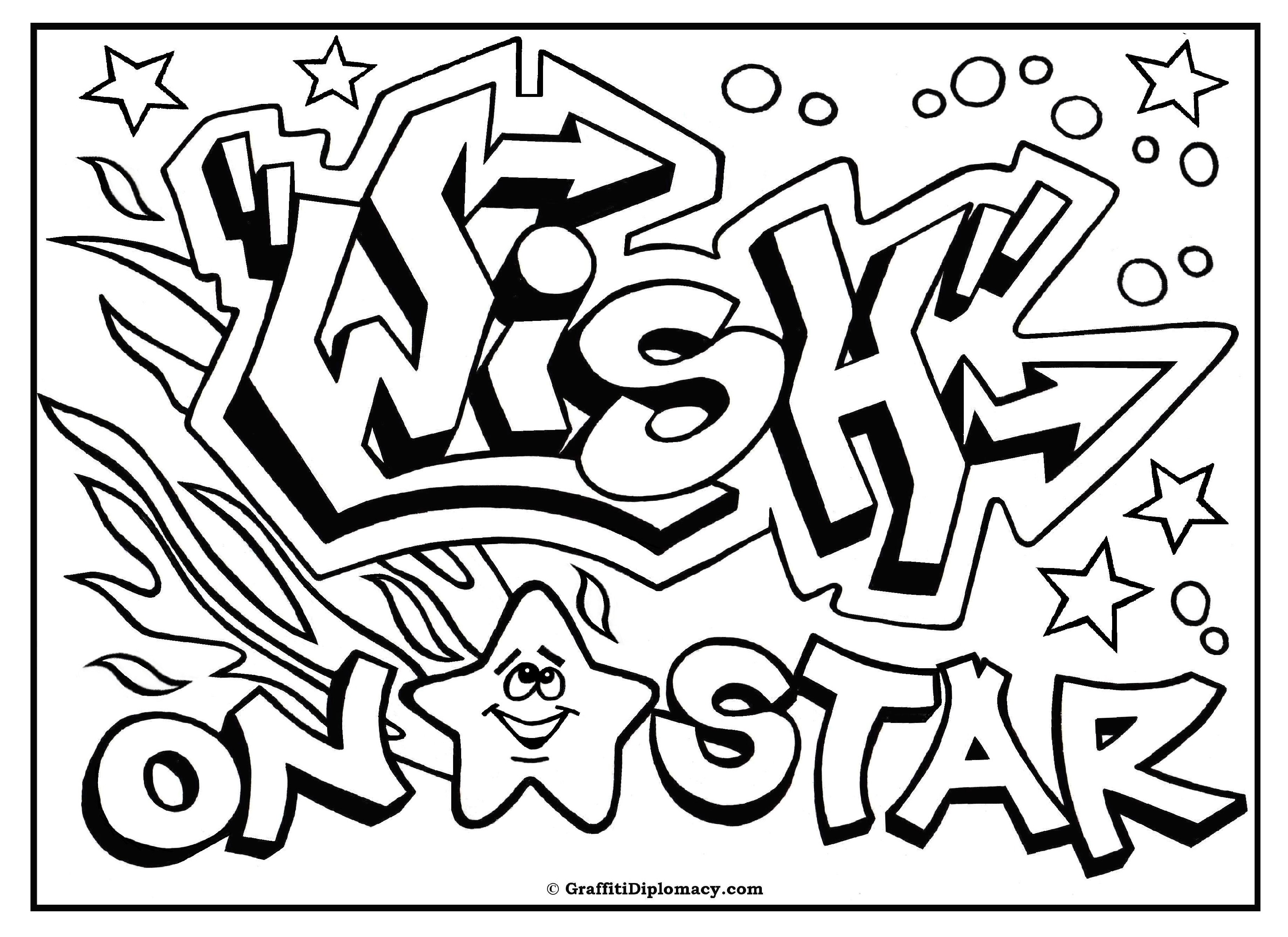 Graffiti Coloring Pages For Teenagers at GetDrawings ...
