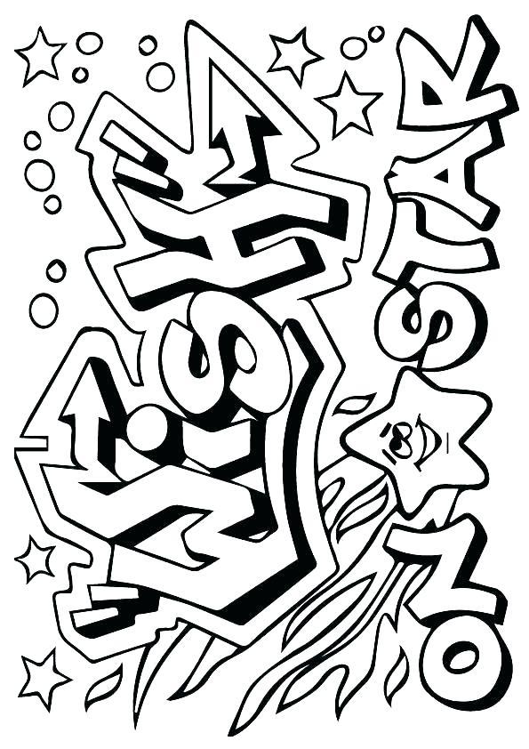 595x842 Graffiti Coloring Pages Free Printable Graffiti Coloring For Kids