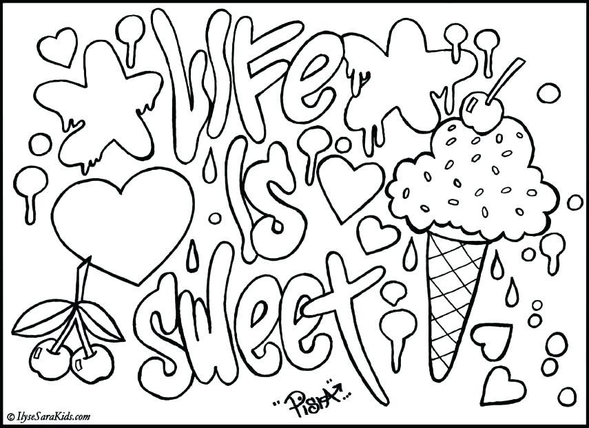 855x622 Graffiti Coloring Pages Hip Hop Coloring Sheets Free Graffiti