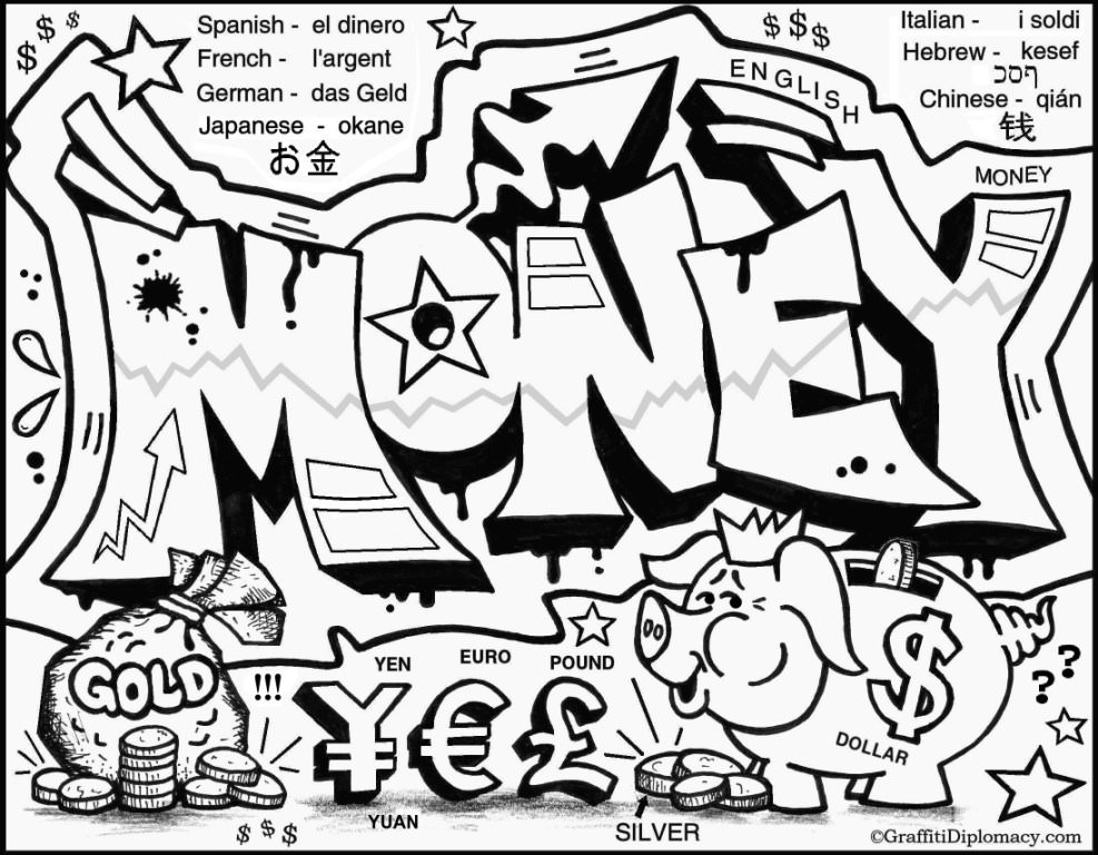 987x768 Graffiti Letters Coloring Pages
