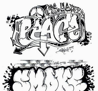 400x373 Graffiti Wall Graffiti Words Coloring Pages For Teenagers