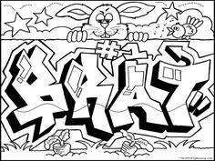 236x177 Free Graffiti Coloring Page From Because Y's A Crooked Letter