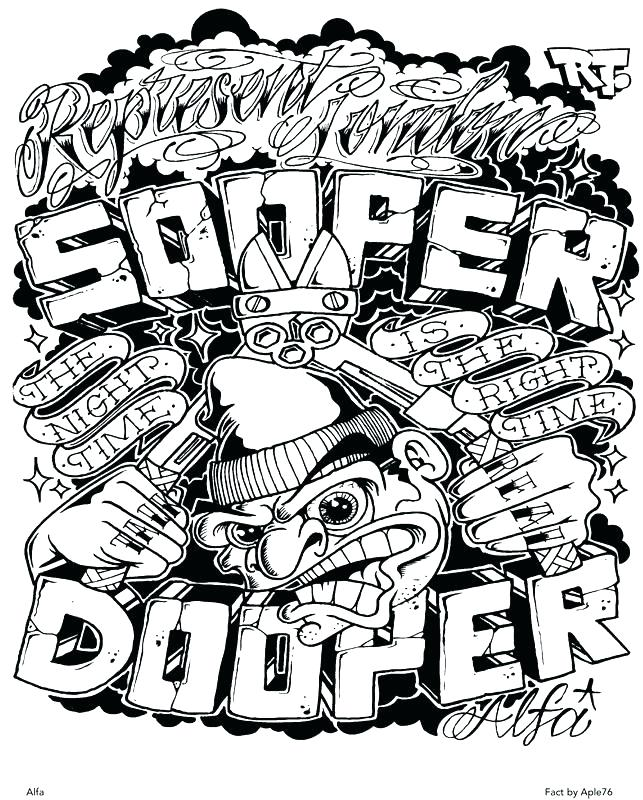 643x800 Graffiti Coloring Pages For Adults