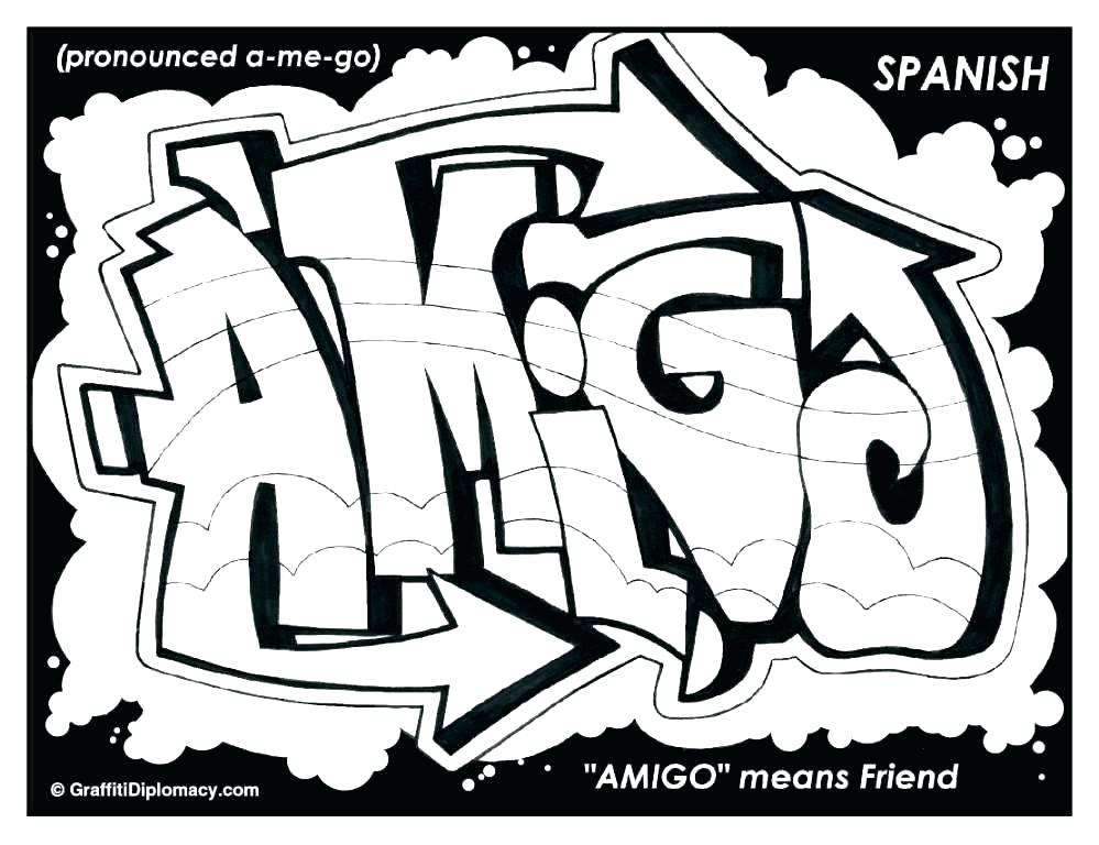 999x768 Graffiti Coloring Pages