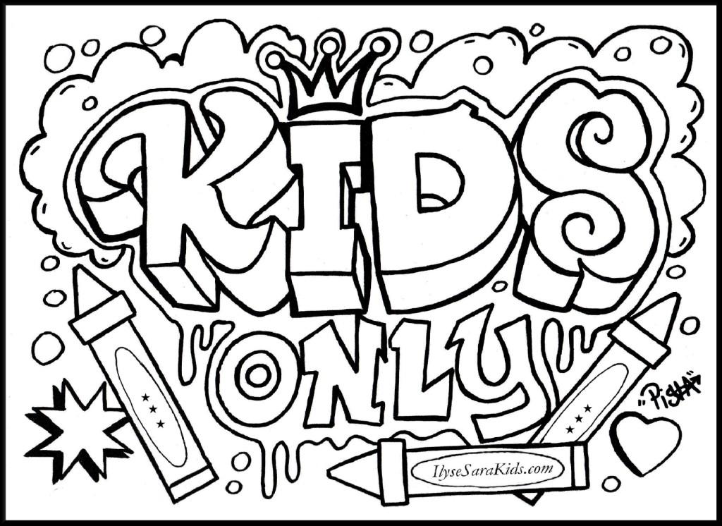 1024x746 Graffiti Bubble Letters Coloring Pages