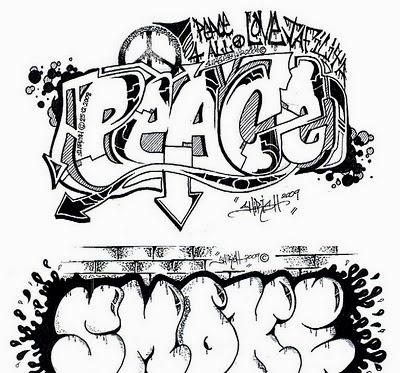 400x373 Gangster Love Coloring Pages Graffiti Wall Graffiti Words Coloring