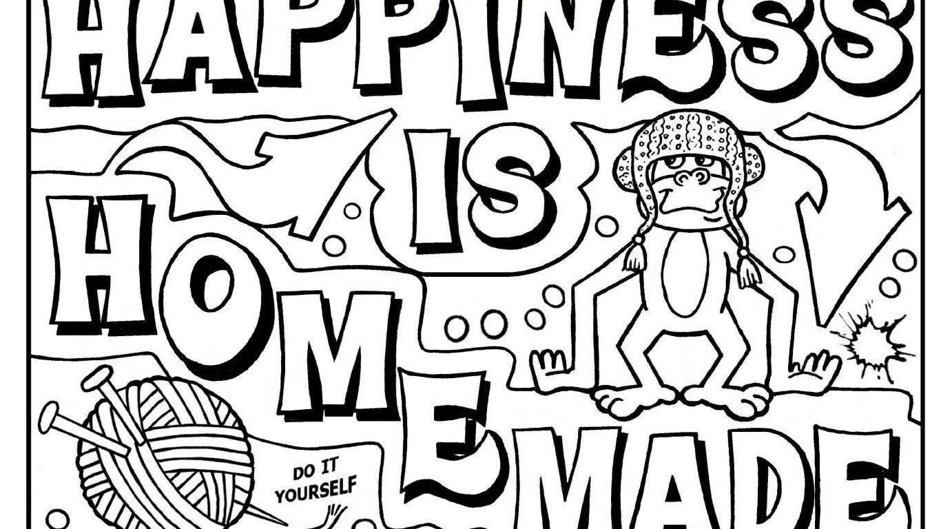 1366x768 Graffiti Coloring Pages For Adults Free Adult Creator Letters