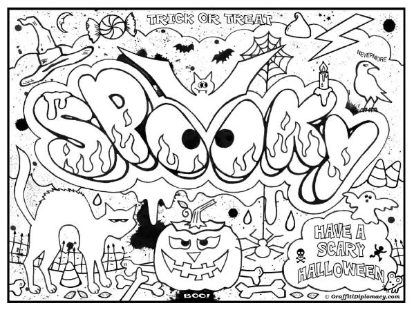 599x449 Graffiti Words Coloring Pages Page Image Clipart Images