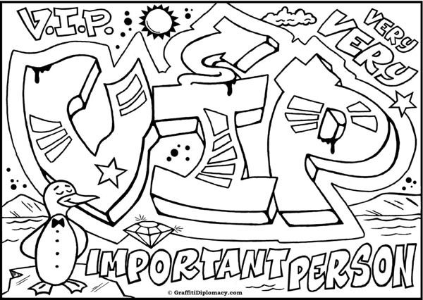 600x426 Graffiti Creator Colouring Pages In Capitals