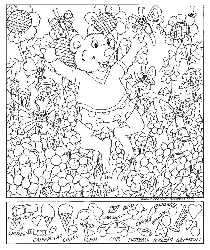 728x868 Hidden Object Coloring Pages Printable Grammar Worksheets