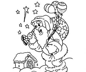 334x278 Merry Christmas Coloring Pages