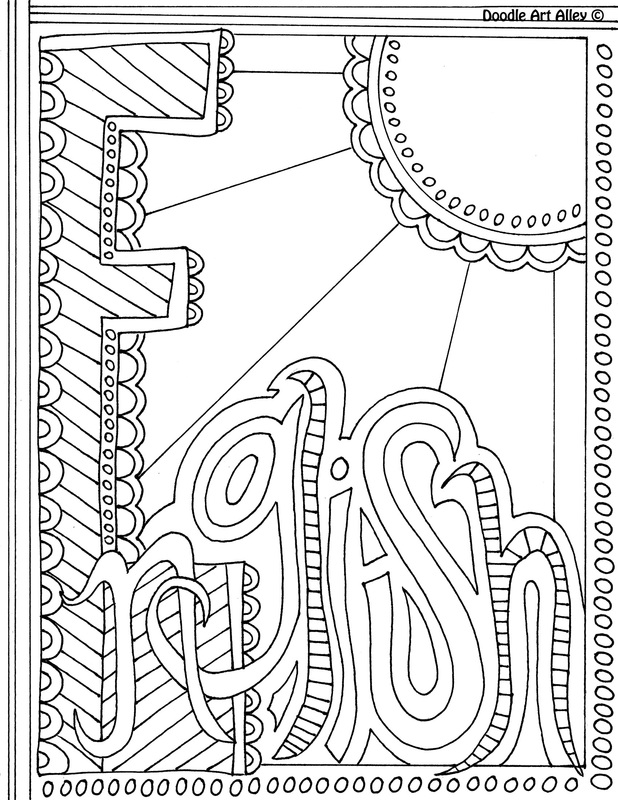 618x800 Subject Cover Pages Coloring Pages Classroom Doodles English