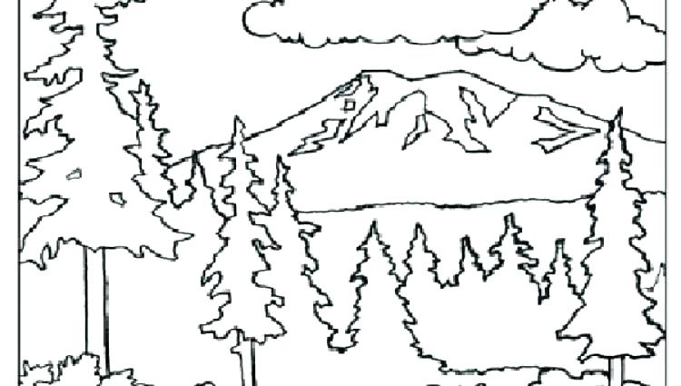 750x425 Coloring Mountains Coloring Pages Mountains Coloring Pages
