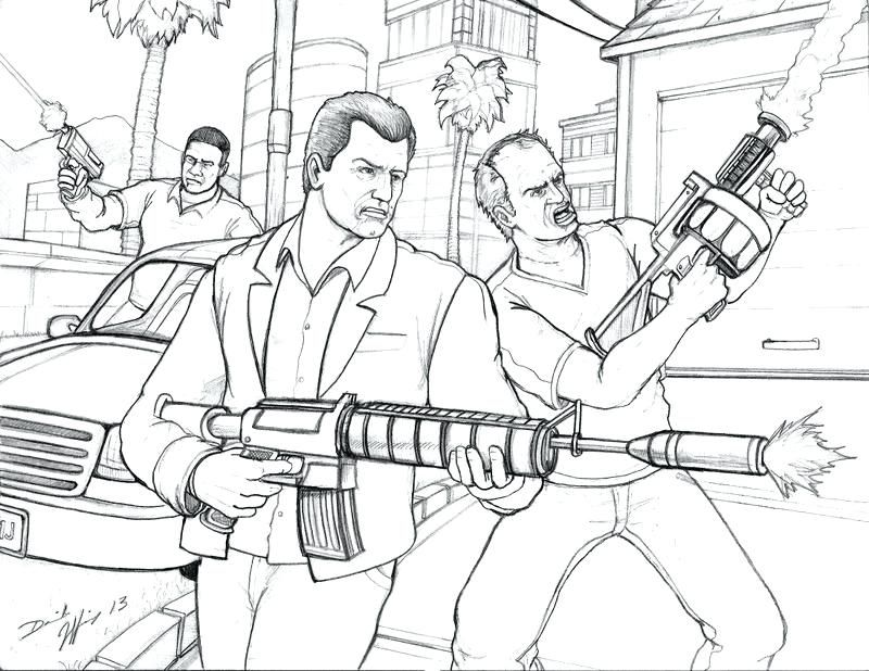 800x618 Gta Coloring Pages Gta Coloring Pictures Grand Theft Auto V
