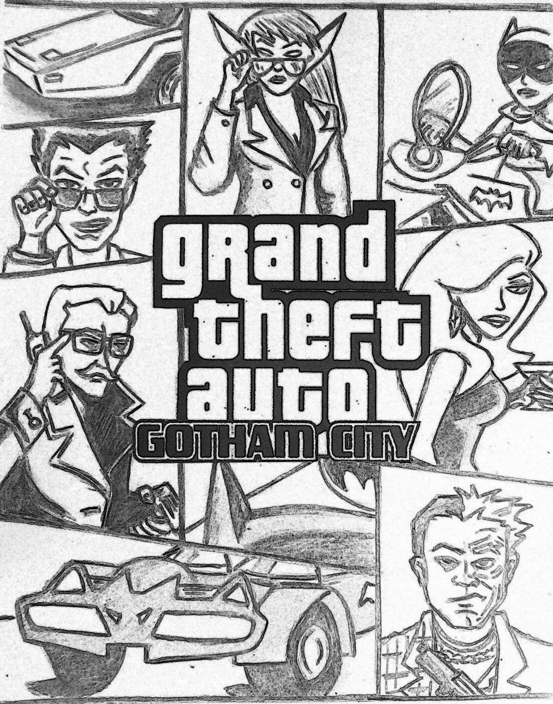 1101x1400 Gta Drawing Grand Theft Auto Coloring Pages
