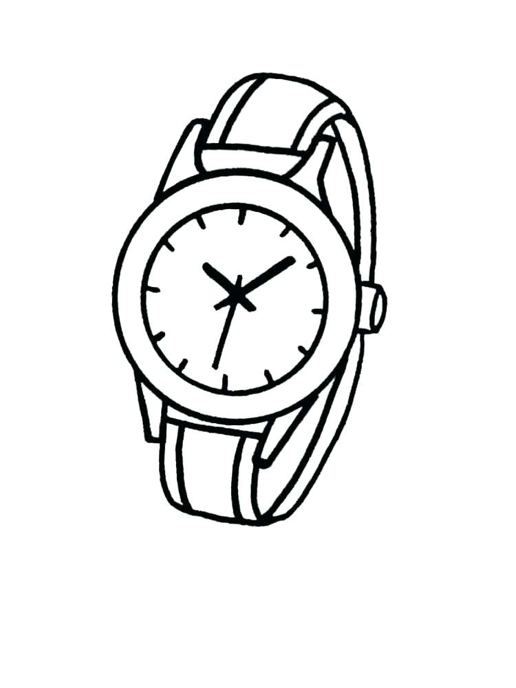750x1000 Clock Coloring Page Watch Coloring Page Watch And Clock Coloring