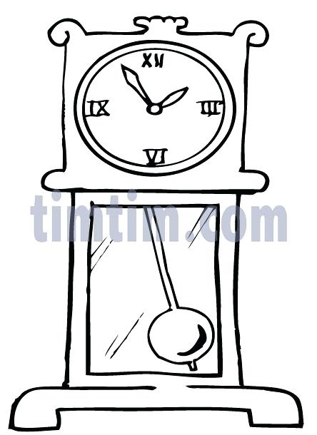 444x610 Clock Face Coloring Page For Alarm Clock Cartoon Of Alarm Clock