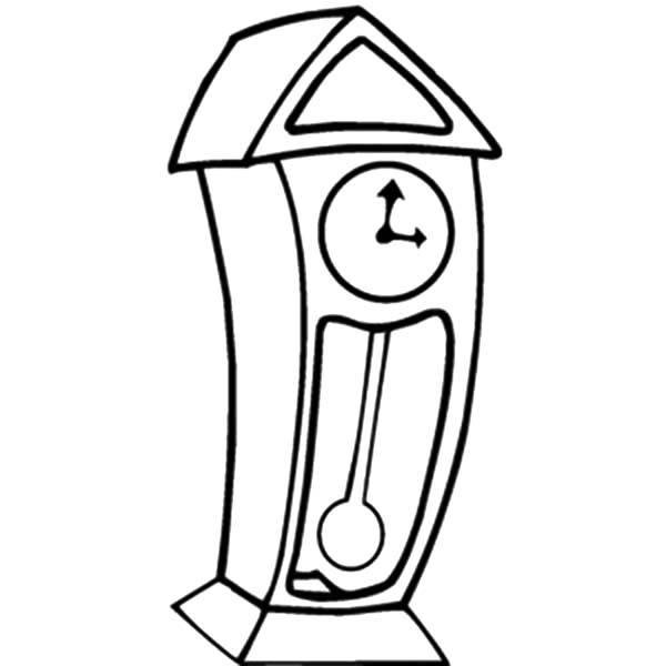 600x600 Grandfather Clock Cartoon Coloring Pages Grandfather Clock