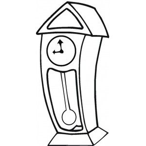 300x300 Grandfather Clock Coloring Page Picture Super Coloring P