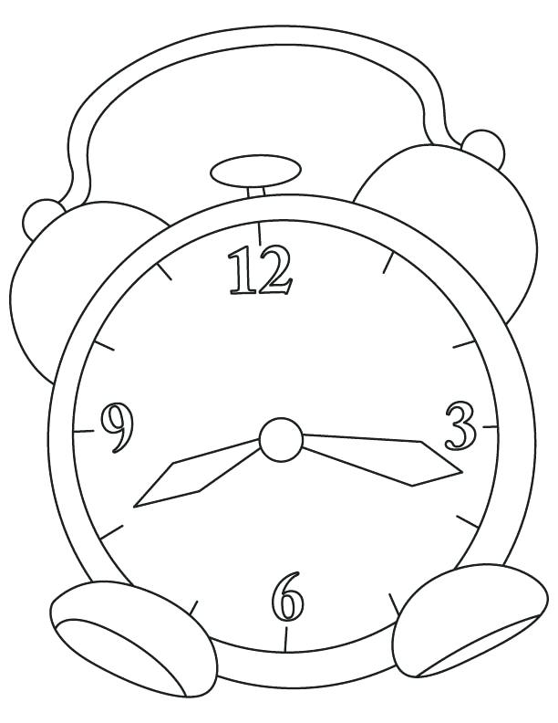 612x792 Clock Coloring Page Alarm Clock Coloring Page Grandfather Clock